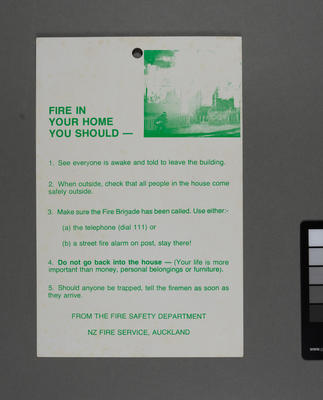 Fire in your home: you should -