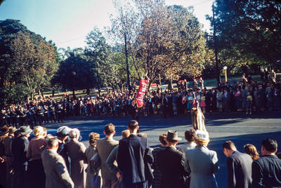 [A procession in Sydney, Australia, May Day]