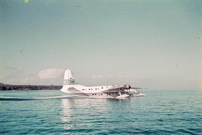 [TEAL Solent taxying on the water at Satapuala, Samoa]