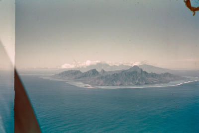 [Aerial view of Moorea]