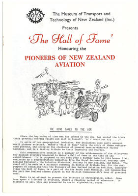 The hall of fame : honouring the pioneers of New Zealand aviation