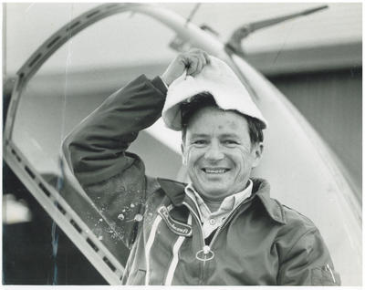 Cliff Tait after returning from the CT 4 Airtrainer delivery flight