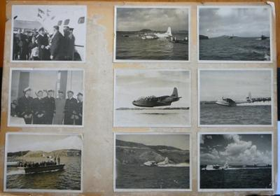 Montage of nine TEAL staff and aircraft photographs