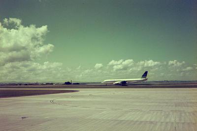Douglas DC-8 at Mangere Airport