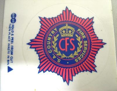 Sticker [CFS (S.A. Country Fire Service)]