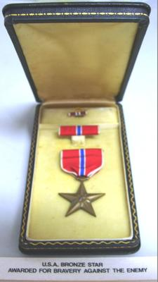 Bronze Star Medal with Bar and Pip