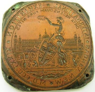 Engraving Plate [Sydney International Exhibition 1879]