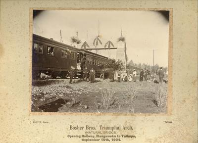 Photograph of the opening of the Railway, Mangaweka to Taihape, September 10th 1904