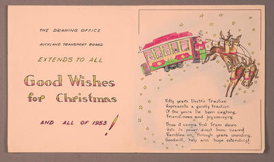 [Christmas card from Auckland Transport Board'S Drawing Office]
