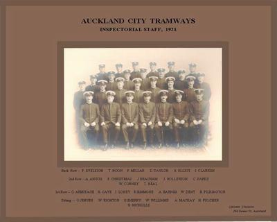 Auckland City Tramways inspectorial staff 1923