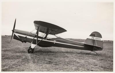 [ZK-AWH Auster J/1 Autocrat photograph]