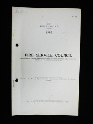 New Zealand Fire Service Council annual report and statement of accounts