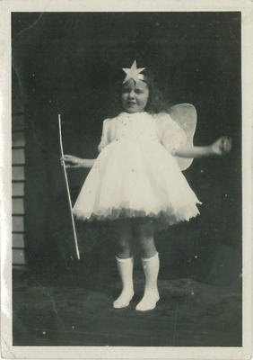 Young girl in fairy costume