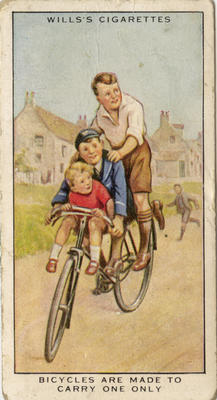 Bicycles are made to carry one only