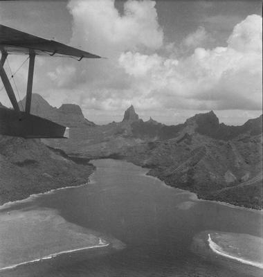 Aerial view of Moorea from Solent
