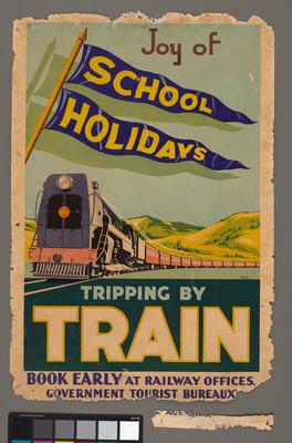 Joy of school holidays : tripping by train