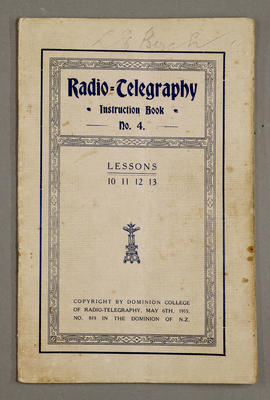 Radio telegraphy instruction book No 4