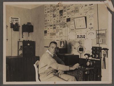 Charley Ambury, station ZL2LQ New Plymouth, 1930s