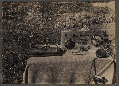 Taranaki emergency radio transmitter ZL2EV, 1930s