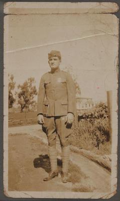 L E Birch in military uniform, WW1