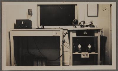 Radio equipment at station W6HG