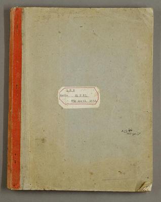 Log radio ZL2HI. 8 April 1932; Leslie Birch; 1933