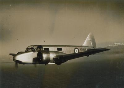 Airspeed Oxford in flight at Woodbourne