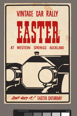 Vintage Car Rally Easter at Western Springs Auckland