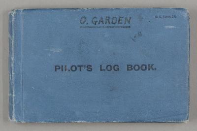 Pilot's log book. [Oscar Garden]