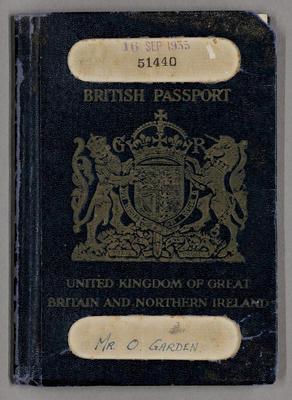 British Passport [Mr. O. Garden]