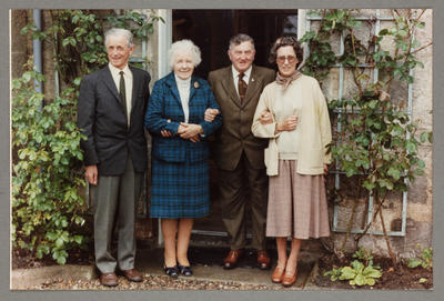 [Oscar and Helen Garden with the Burrs on their visit to Scotland]