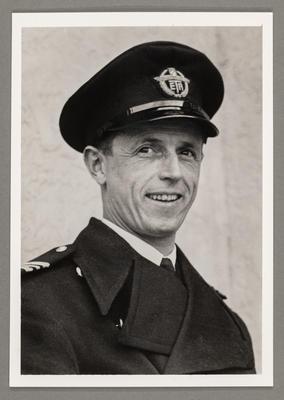 [Portrait of Oscar Garden in Tasman Empire Airways uniform]