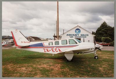 25/3/90 Ardmore [ZK-ECA Beech]; John Page; 25 Mar 1990