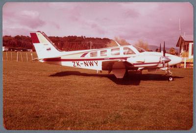 ZK-NWY Beech 58P Baron 20.8.81 Waharoa