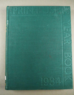 The print-user's year book 1934