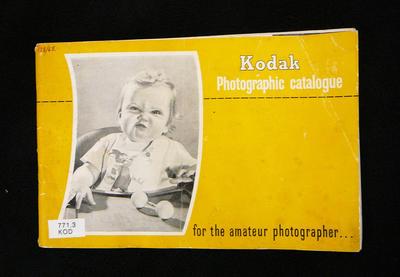 Kodak photographic catalogue for the amateur photographer
