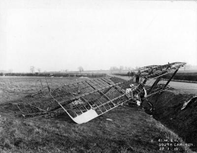 Avro 504K crashed South Carlton, U.K. 27 January 1918.