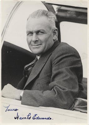 Wellington Aero Club. Harold Edwards in his Miles Whitney Straight. 1936.