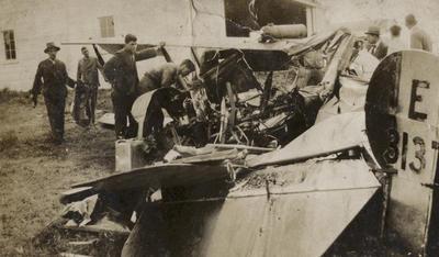 Avro 504K E 3137 crash in Canterbury