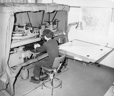 Wild A6 stereo-plotting machine in use