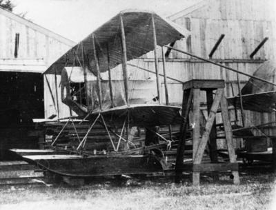 New Zealand Flying School, Caudron flying boat at Kohimarama