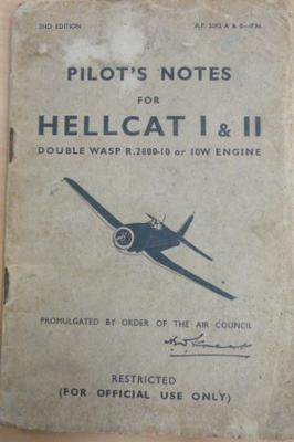 Pilot's notes for Hellcat I & II: Double Wasp R.2800-10 or 10W engine