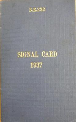 Signal card 1937