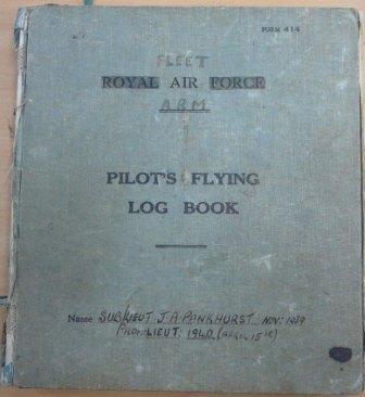Fleet Air Arm: Pilot's flying log book [of John Pankhurst]