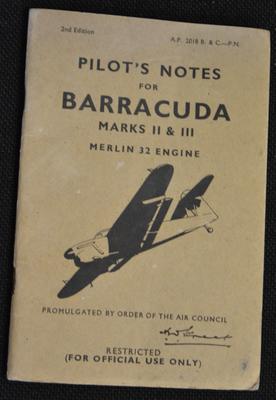 Pilot's notes for Barracuda : Marks II & III, Merlin 32 engine