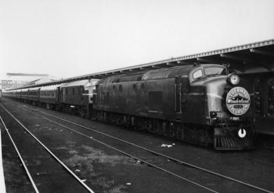 Locomotive Df 1501 and another, Thermal Wonderland Excursion, Auckland, 1959