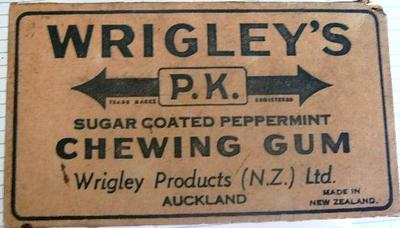 Box [Wrigley's P.K. chewing gum]