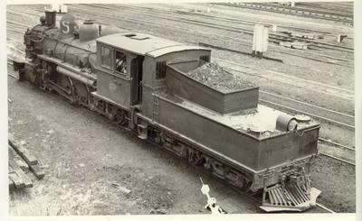 Locomotive Bb 628, Auckland Central yards, 1954