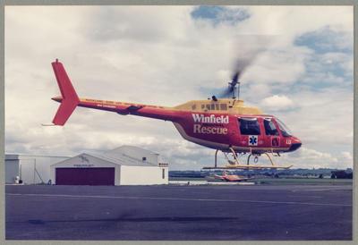 ZK-HLU Bell 206 Jet Ranger 21.9.85 Ardmore