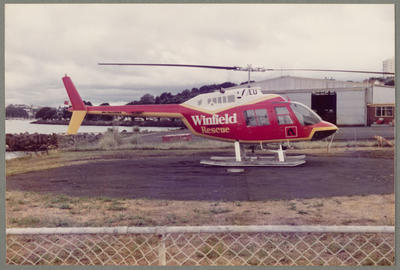 ZK-HLU Bell 206B 30.10.83 Mechanics Bay